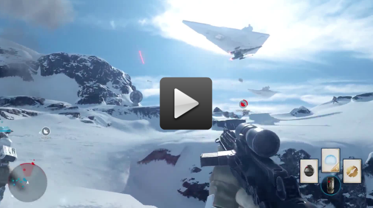 Watch over five minutes of Star Wars: Battlefront gameplay