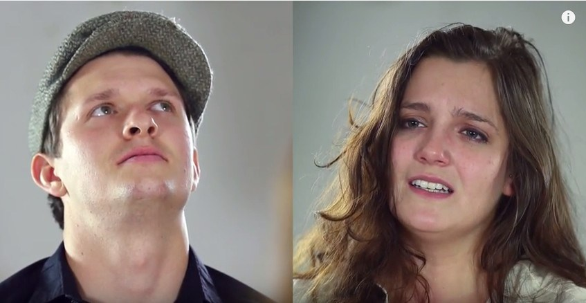 Exes are filmed as they ask each other questions post-breakup
