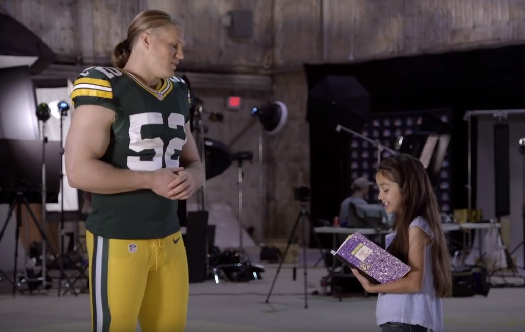 Watch this 10-year-old girl stump NFL players during interviews
