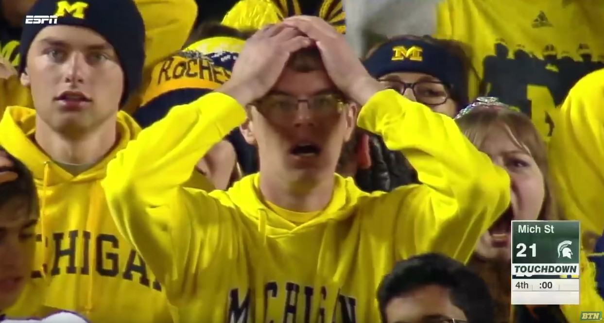 Reddit counted how many times users cursed during Michigan vs. Michigan State