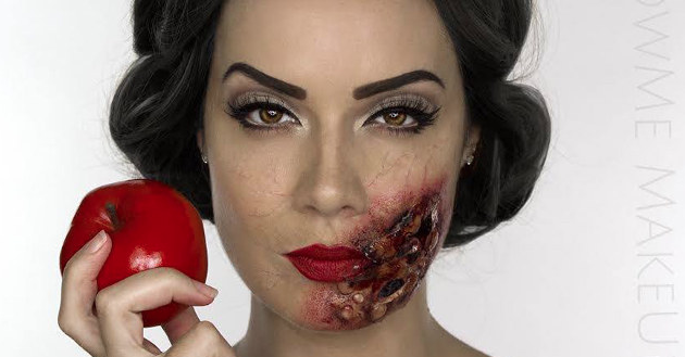 Makeup artist creates 'Dead Disney Princess' series