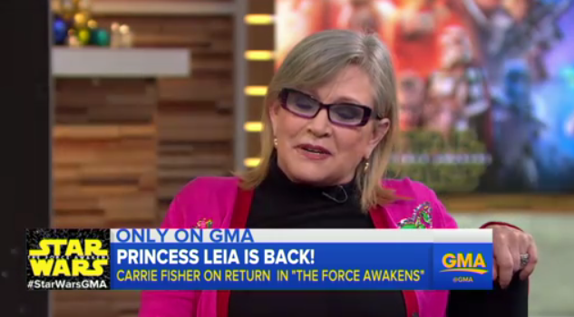 Carrie Fisher is in total DGAF mode on Good Morning America