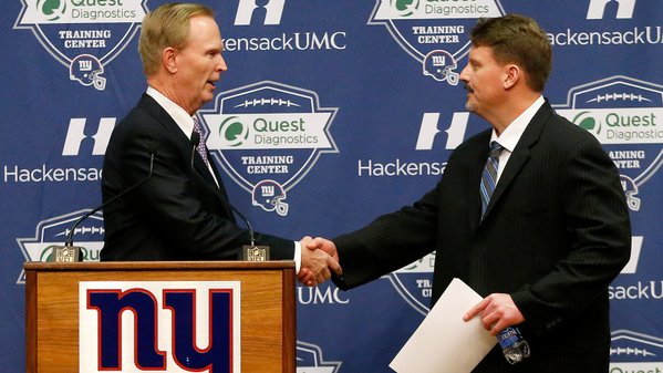 Giants take non traditional route for Tom Coughlin's replacement