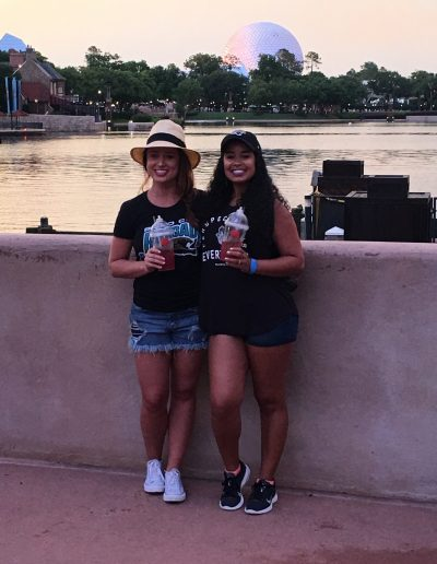 we only went to one bar at epcot. and stayed there.