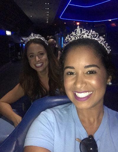 roller coasters and princess crowns
