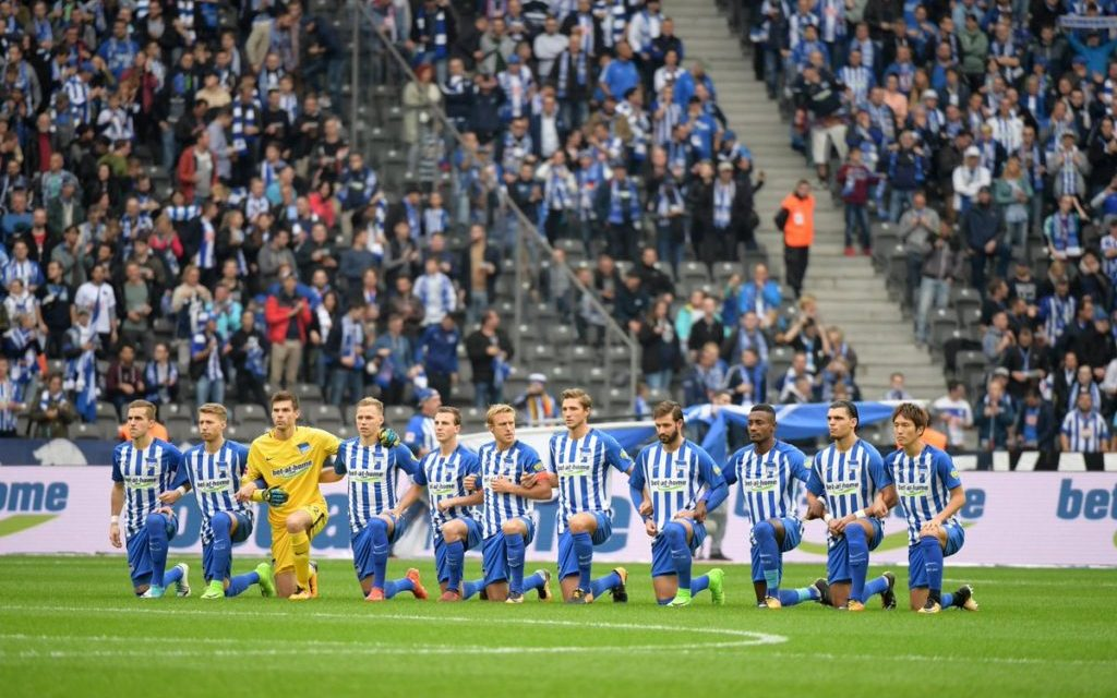 Hertha Berlin Brings The Take A Knee Movement To Europe