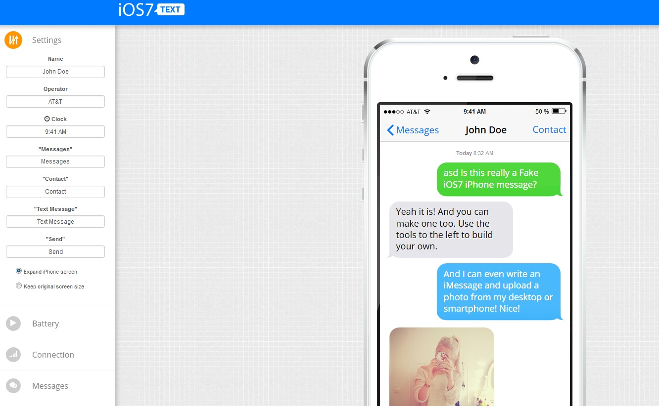 fake text messages