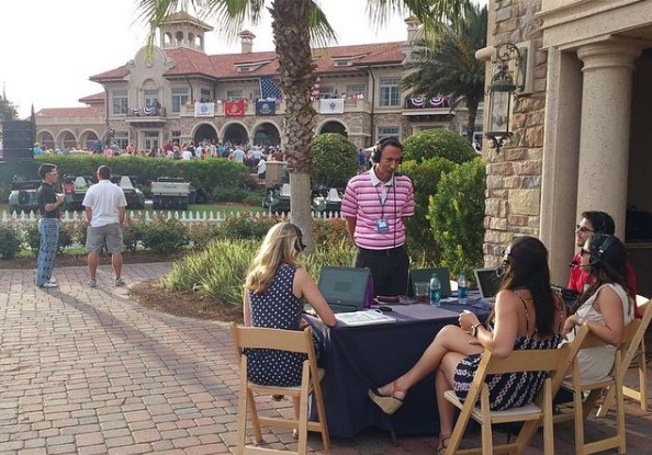Broadcasting live at THE PLAYERS